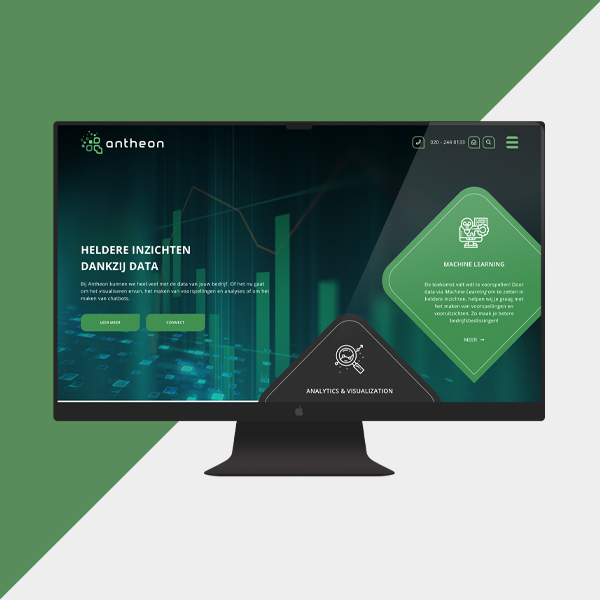 Antheon website - desktop