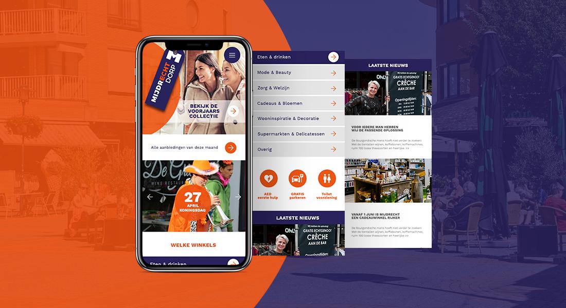 Mijdrecht Dorp screenshots website mobiel