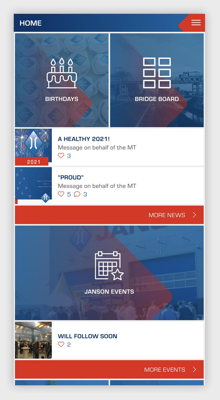 Janson Bridging intranet-app - verjaardagen