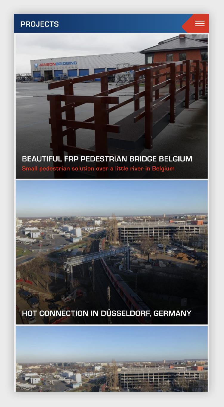 Janson Bridging intranet-app - projecten