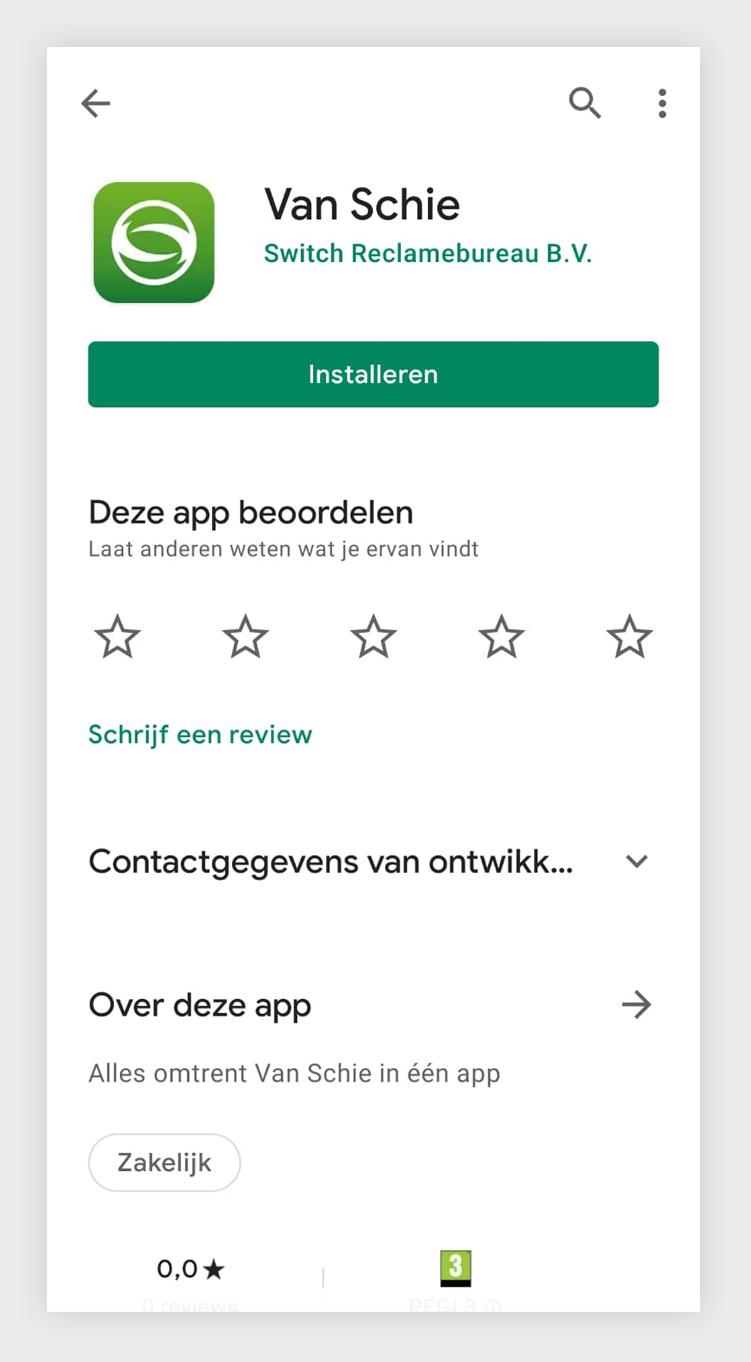Van Schie App - download Google Play Store